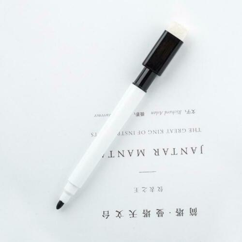5X Whiteboard Stift löschbar trocken Whiteboard Marker schwarze Tinte feine Größ