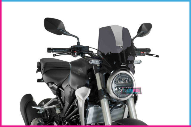 PUIG NAKED WINDSHIELD N.G. SPORT FOR HONDA CB300R NEO SPORTS CAFE 18-21 DARK SMO