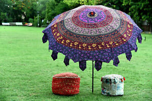 Indian-Beautiful-Garden-Parasol-Mandala-Cotton-Sunshade-Parasols-Umbrella