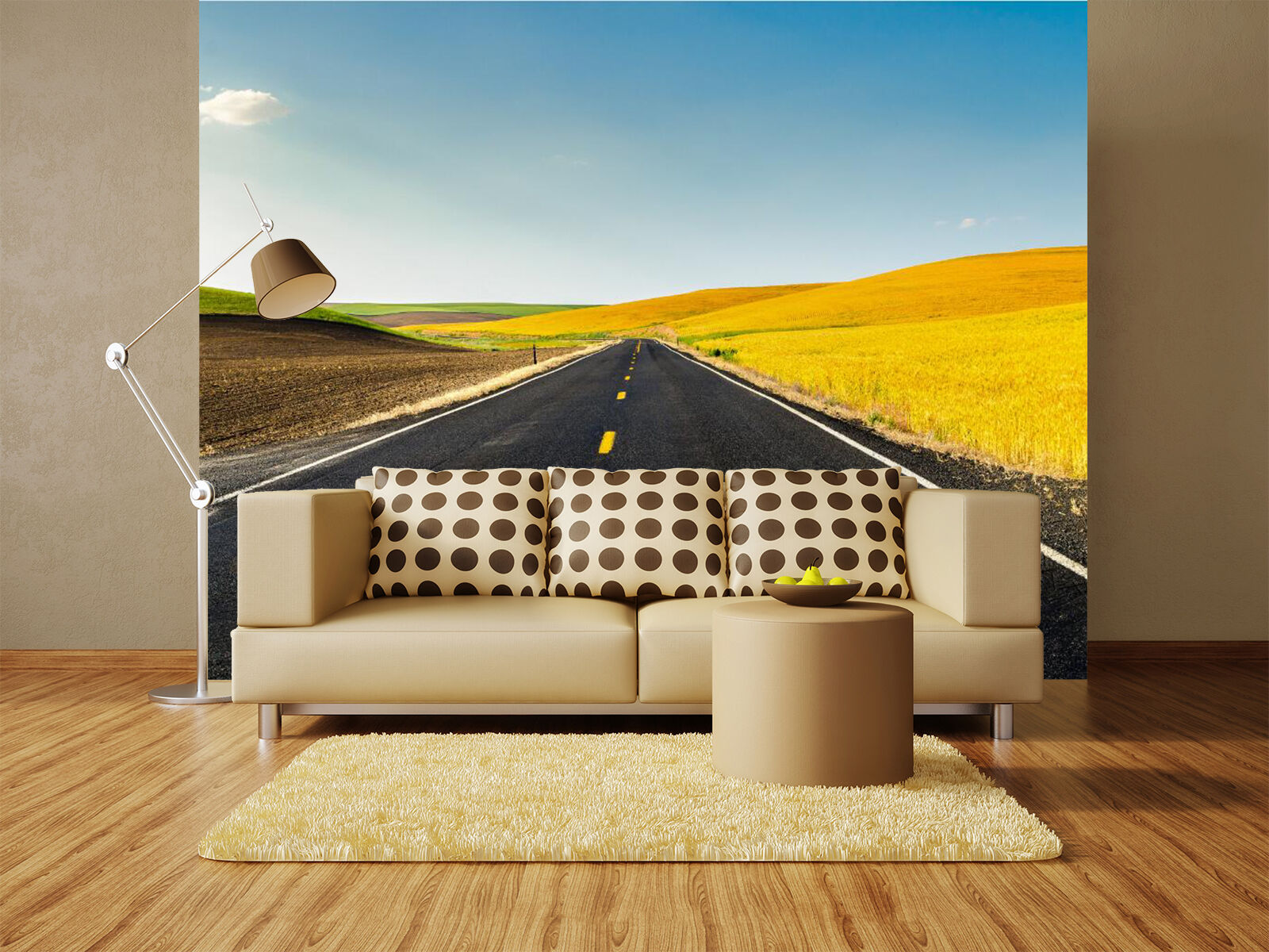 3D Road outskirt Gelb Wall Paper Wall Print Decal Decal Decal Wall Deco Indoor wall Mural d1618f