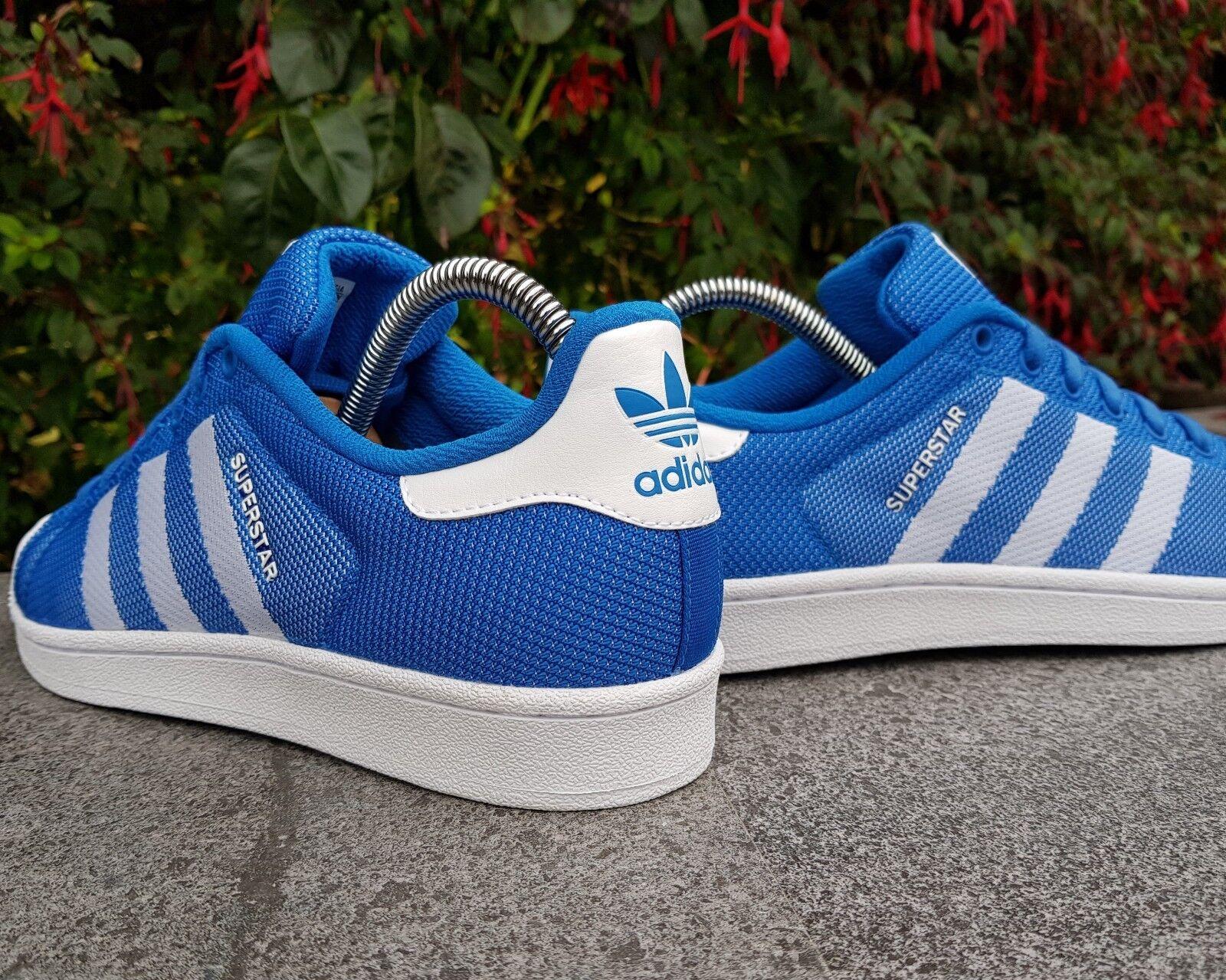 BNWB & Genuine adidas originals ® Superstar blueebird White Trainers UK Size 7.5