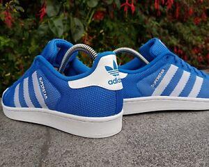 20c9ad6a153402 Image is loading BNWB-amp-Authentic-adidas-originals-Superstar-Bluebird- White-