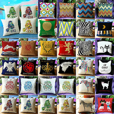 Retro Star Was Pillows Cases Home Living Room Decorative Throw Cushions Covers