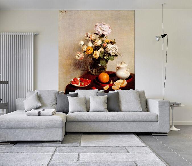 3D Obst, Blaumen, Kessel 35 Fototapeten Wandbild Fototapete BildTapete Familie DE