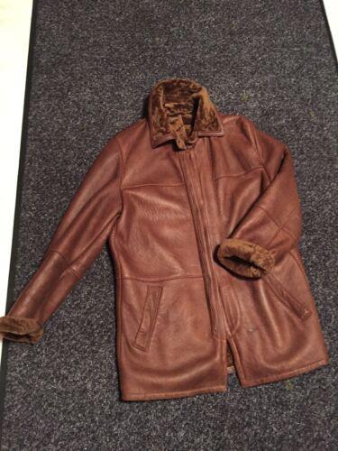 studio 5050Top Manteauveste d'agneau cuir Cognac 48 en taille vmnON80w