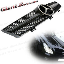 Bright Black Fin Body Front Hood Grille For 05-08 BENZ W219 CLS CLS500 CLS55 4DR