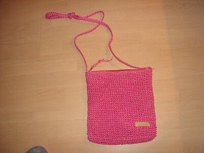 Gehorsam Esprit Tasche In Pink Geflochten Mit Espritlogo Vorne