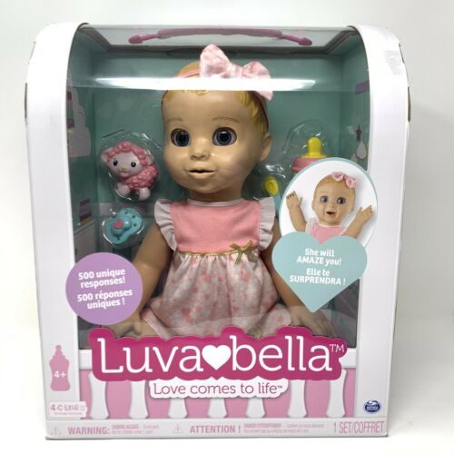 LUVABELLA Blonde Doll Baby Girl Realistic Expression Bow 6044112 RARE SOLD OUT