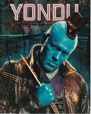Able Michael Rooker Signed Guardians Of The Galaxy Yondu Photo W/ Hologram Coa Delaying Senility Autographs-original Movies