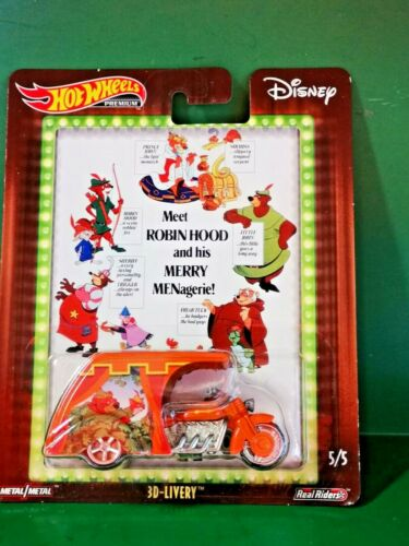 # 1//64 HOT WHEELS DISNEY 2018-3D-LIVERY ROBIN HOOD POP CULTURE MISB #