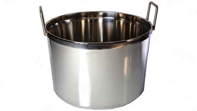 Perseverando Paiolo Caldaia Grande In Acciaio Inox Uso Alimentare Conserve Enologia 70 Litri