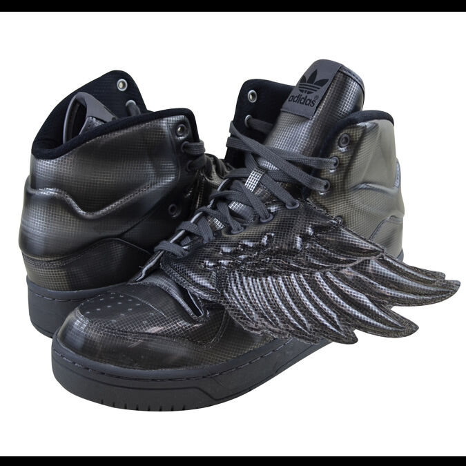 ADIDAS WINGS BY JEREMY SCOTT JS WINGS ADIDAS MOLDED TRAINERS SHE GREY NEW SIZE 5UK SNEAKERS b456e6