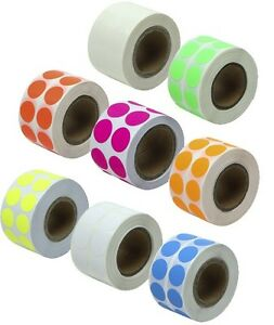 300 Round 5 Quot Inch Color Coding Coded Label Sticker Dot Inventory Code Ebay