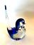 thumbnail 3 - Rubelli V.A. Murano Italy Art Glass Blue Bird Original Label 6 inches Tall