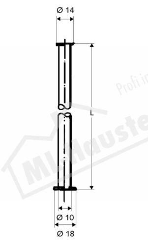Schell 500050699 Kupferrohr 10x800mm verchromt Bördel einers.3//8 anders.1//2 Zoll