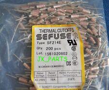 10pcs SF214E SEFUSE Cutoffs NEC Thermal Fuse 216°C Celsius Degree 10A 250V