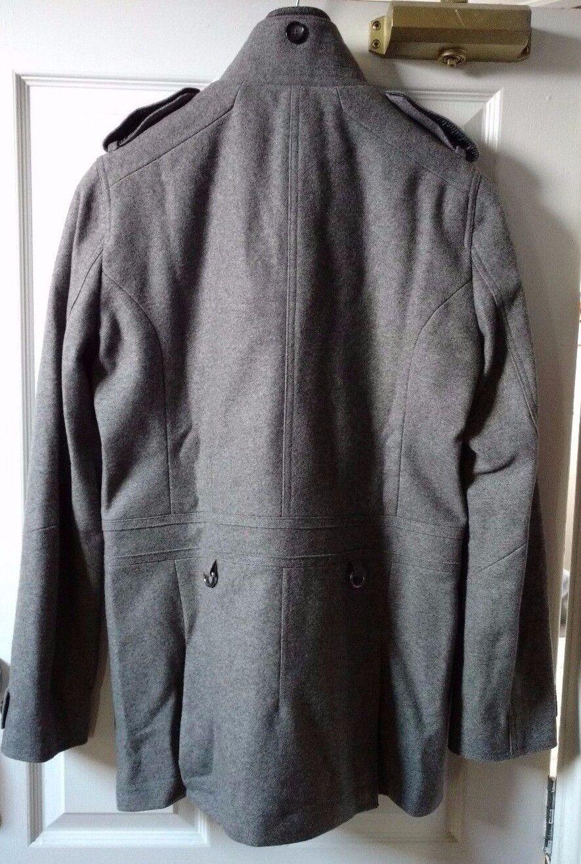 Reiss Militare Uomo Stile Militare Reiss Grigio Peacoat-A/W 2012, Regno Unito piccola ottime condizioni 99ef7a