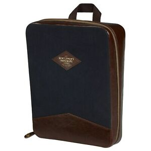 Gentlemen-039-s-Hardware-Shirt-Case-in-Canvas-and-Leather-Luggage-Travel-Organizer