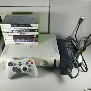 Microsoft-Xbox-360-White-120GB-Console-Bundle-8-Games-1-Official-Controller