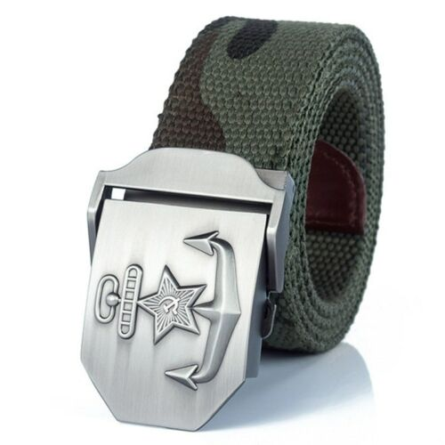 New Men /& Women High Quality Military Belt Navy Of The USSR Canvas Strap