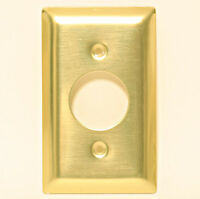 Wall Plate Polished Brass Electric Cable Wire 1 3/8 Round Circle Hole 1.375