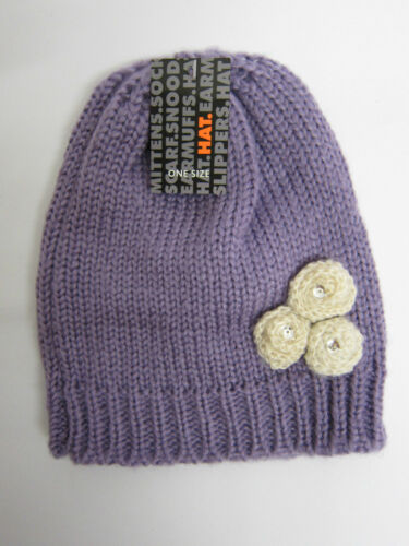 GL096 Great Price! Girls RJM Knitted Beanie Hat 3 Colours One Size
