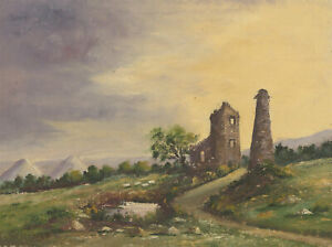 Gainsford - Early 20th Century Oil, Cornish Tin Mine