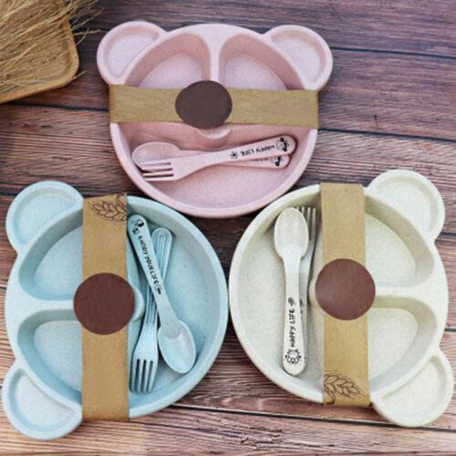 Satz Cartoon Baby Teller Set Multifunktionale Besteck Gerichte Tablett 3 Teile