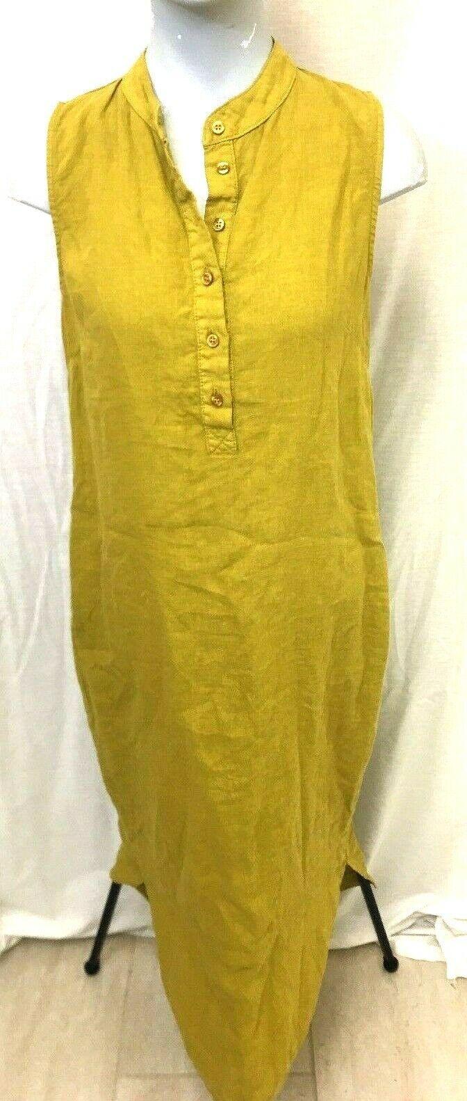 Comme Il Faut  damen's Art to wear Lagenlook Linen Maxi full Dress Sz L1 M1