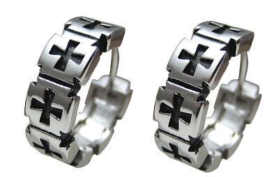 PüNktlich Kikuchi Edelstahl Creolen Herren Ohrringe Damen Männer Flinserl Silber Kreuz 7. Komplette Artikelauswahl