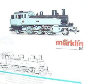 Marklin-AC-HO-1-87-034-WURTTEMBERG-034-Gray-T5-STEAM-TANK-LOCOMOTIVE-MIB-90-RARE