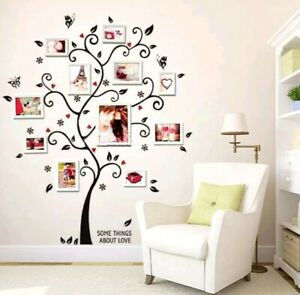 Details About Photo Tree Wall Decal Removable Stickers Dining Room Bedroom Living Hallway