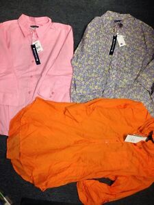Lot-3-Blouse-Tops-Size-Large-All-New-Tags-Architect-Antilia-Femme-Orange-Pink