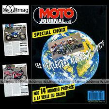 MOTO JOURNAL N°910 APRILIA 125 RALLY RX PEGASO HONDA CB 750 FOUR CRM 125 CR '89