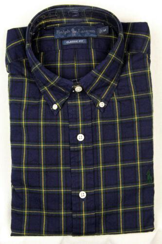 Ralph Lauren Blue Green Yellow Classic Dress Shirt Green Pony NWT