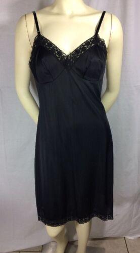 Lorraine Slip Black Full Slip Size 36 Vintage