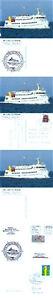 Modeste Allemand Navire à Passagers Mme Lady Von Busum 2 Navires En Cache Couvre & 3 Cartes Postales-afficher Le Titre D'origine Peut êTre à Plusieurs Reprises Replié.
