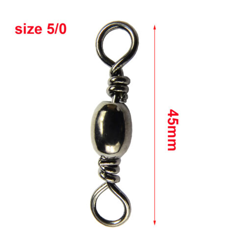 Fishing Barrel Swivels Crappie Stainless Fishing Tackle Fishing Hook Connector