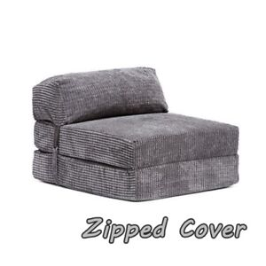 Enjoyable Details About Sofa Bed Chair Pull Out Single Mattress Folding Seat Visitor Couch Compact Grey Unemploymentrelief Wooden Chair Designs For Living Room Unemploymentrelieforg