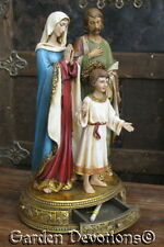 NICE! Antique Looking HOLY FAMILY Nativity Trinket Prayer Rosary Box ~GIFT BOXED