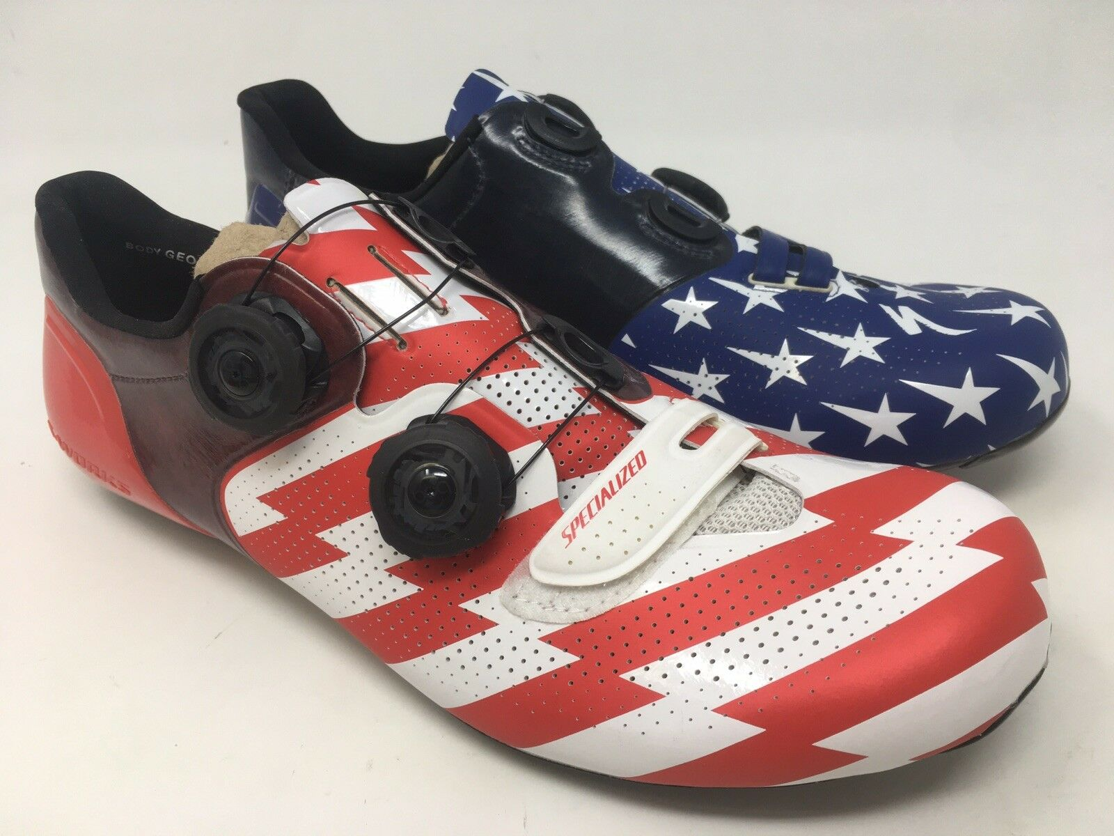 NEW LIMITED EDITION USA S-WORKS 6 Road FACT Carbon US 8.5 shoes BOA NIB