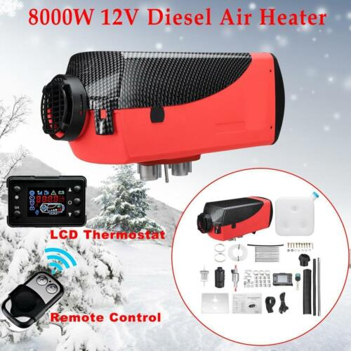 8KW 12V Diesel Air Heater 15L Tank LCD Thermostat 8000W For Trucks Car Trailer