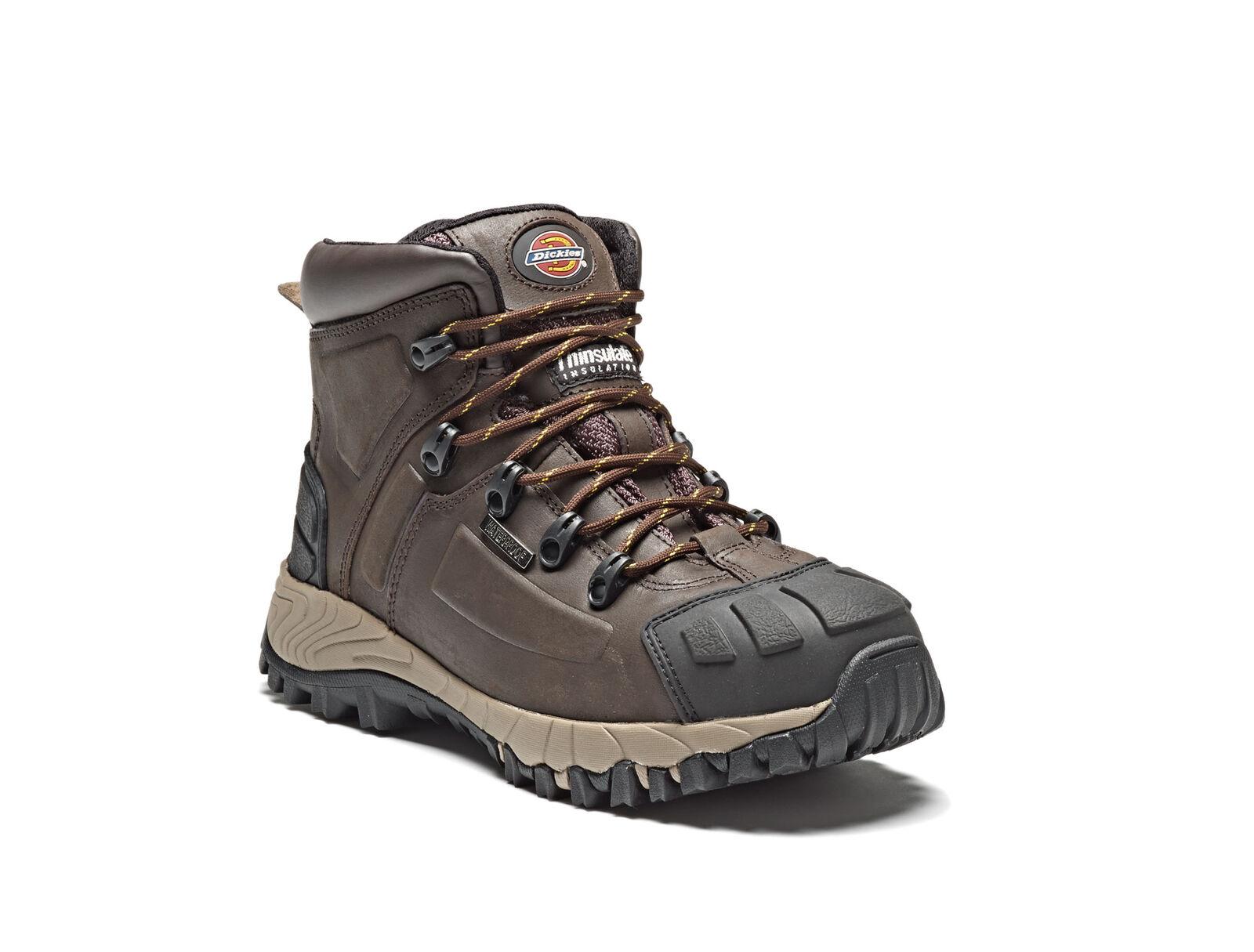 Dickies Medway S3 Seguridad botas De Trabajo marrón Acero toecap & entresuela Impermeable
