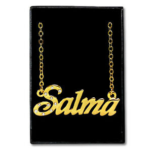 Gold Plated Name Necklace Salma Gift Ideas For Her Jewelry