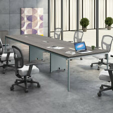 8ft 12ft Modern Conference Table With Metal Base Amp Optional Power Data Modules