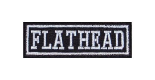 Flathead Biker Patch ricamate moto MC Rocker STAFFA immagine Heavy BADGE tonaca