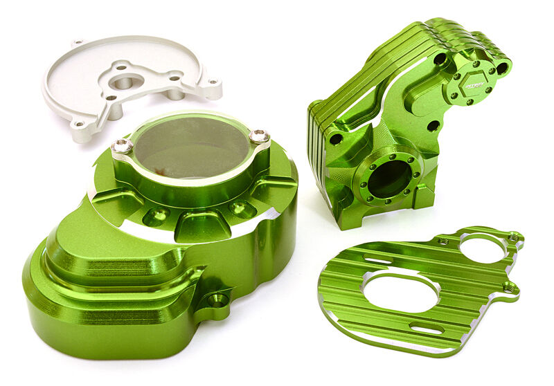 C27120GREEN Integy Billet Alloy Main Gearbox Gearbox Gearbox Housing for Axial 1 10 SCX-10 f0026b