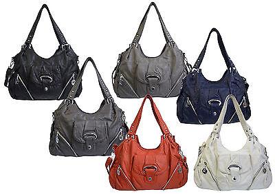 Tasche Handtasche Damentasche Schultertasche Lederoptik Farbwahl Neu