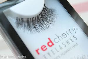 Red-Cherry-STEVI-43-falsche-unechte-kuenstliche-Echthaar-Wimpern-strip-lash