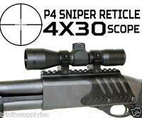 4x30 Compact Tactical Scope P4 Sniper Reticle W/remington 870 Base
